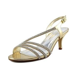Caparros Delicia Open-Toe Leather Heels