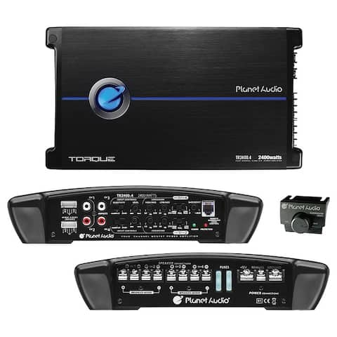 Planet audio tr2400.4 planet four-channel power amplifier 600 watts x 4 max power