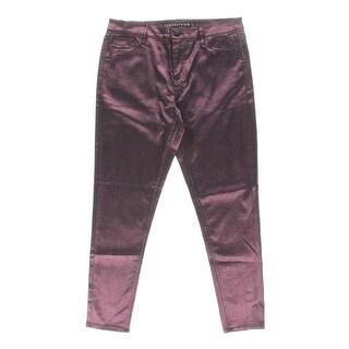 Tinseltown Womens Juniors Skinny Jeans Metallic Coated - 11