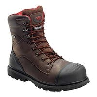 "Avenger Men's A7575 8"" Insulated WP Carbon Toe PR EH Work Boot Brown Full Grain Crazy Horse Leather"