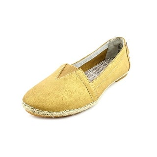 Hush Puppies Coppelia A-Line Women Round Toe Leather Gold Espadrille