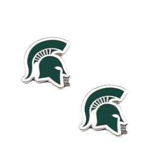 Michigan State Spartans Post Stud Earring NCAA Charm Set