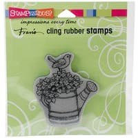 """Watering Can Bird - Stampendous Cling Stamp 4.75""""X4.5"""""""