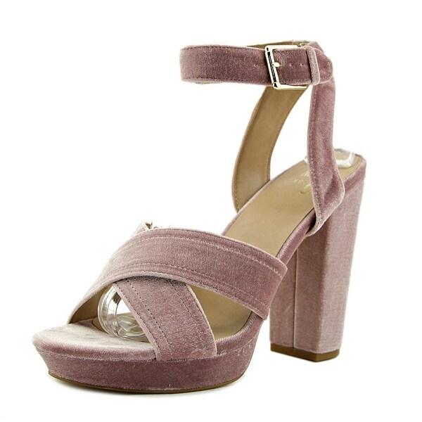 Shop Mix No 6 Latika Women Open Toe Canvas Pink Platform Heel - Free ... a9d043395246