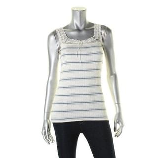 Ralph Lauren Womens Pullover Top Lace Trim Sleeveless