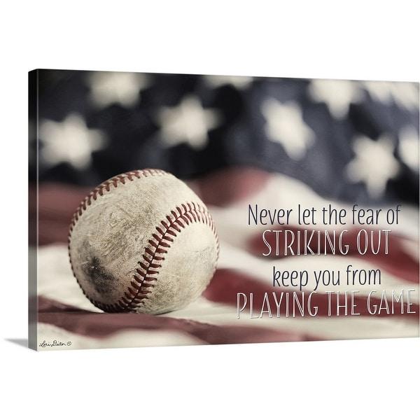 """Baseball - Playing the Game"" Canvas Wall Art"