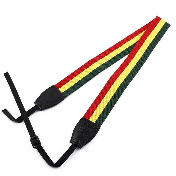 SHETU Authorized SLR Camera Anti-slip Shoulder Neck Strap Belt Green Yellow