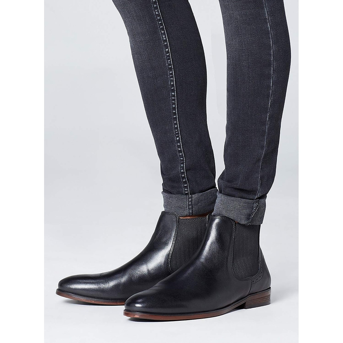 Marin Leather find Brand Men/'s Chelsea Boots