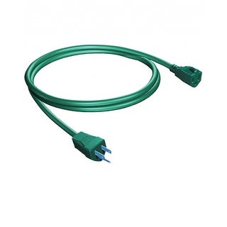Westinghouse Single Outlet Grounded 3 Prong Outdoor Electrical Power Cord - 18' - Green