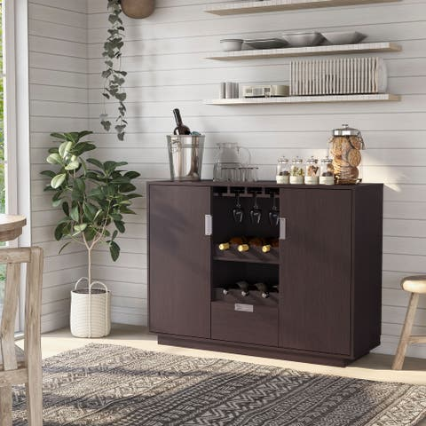 Furniture of America Vika Contemporary Espresso Dining Buffet