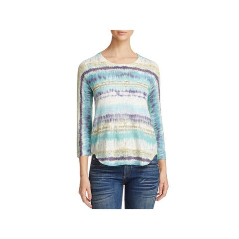 Nally & Millie Womens Tunic Sweater Hi-Lo Knit