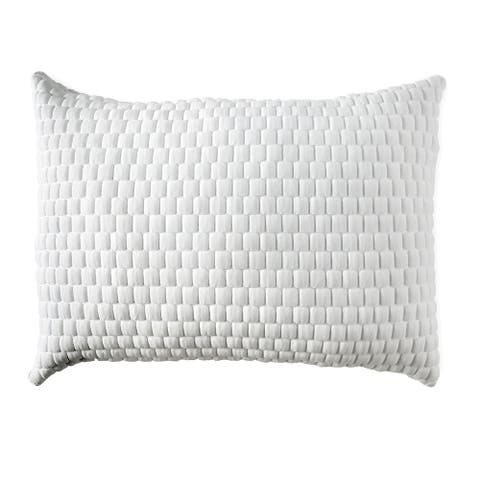 26 x 20 Memory Gel Pillow with Stretched Knit Cover, White
