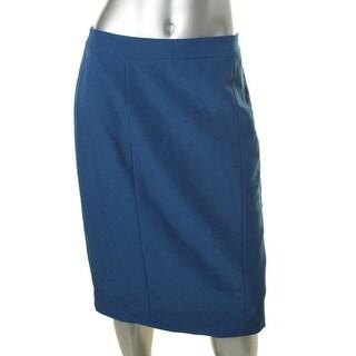 Anne Klein Womens Slim Fit Solid Pencil Skirt