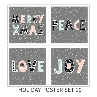 Holiday Poster Set 10 Holiday Poster Set Matte Poster 18x18