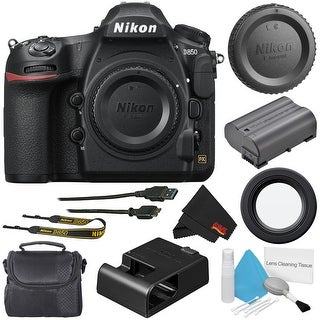 Nikon D850 DSLR Camera (Body Only) 1585 (International Model) + Carrying Case + Deluxe Cleaning Kit + MicroFiber Cloth Bundle