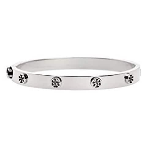 Tory Burch Womens Logo Stud Hinge Bracelet Tory