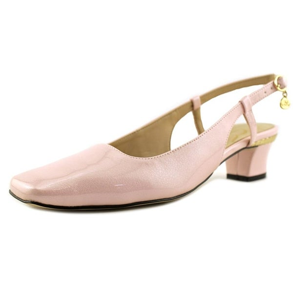 J. Renee Pamelia Women Square Toe Synthetic Pink Slingback Heel