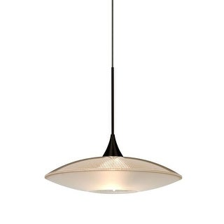 Besa Lighting 1XT-6294GD Spazio Single Light Mini Pendant with Gold Handcrafted Glass Shade