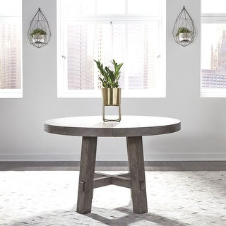 Link to The Gray Barn Hammond Mill Farmhouse Dusty Charcoal Round Dining Table Similar Items in Dining Room & Bar Furniture