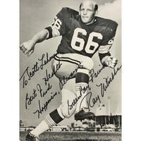 Ray Nitschke Signed 4x6 Green Bay Packers Photo PSA AD83837