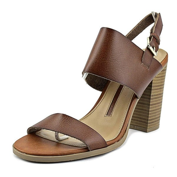 New Directions Cirella Women Open Toe Leather Brown Sandals