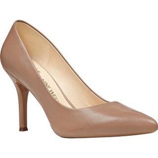 Nine West Women's Fifth Pump Natural Leather