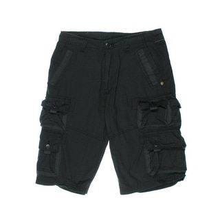 Royal Premium Mens Peter Cotton Glen Plaid Cargo Shorts - 32