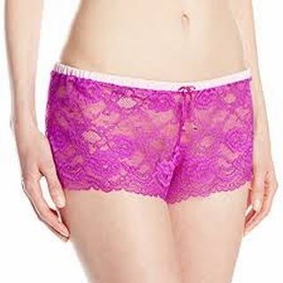 Skarlett Blue NEW Purple Women's Size Small S Lace Sleep Shorts Sleepwear