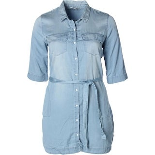 Calvin Klein Jeans Womens Shirtdress Denim Button-Down - xL