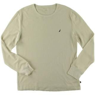 Nautica Mens Sleep Shirt Waffle Monogram - L|https://ak1.ostkcdn.com/images/products/is/images/direct/f3b0d2d0f2b634f2dfd9c0860c0d8abc282ed10e/Nautica-Mens-Waffle-Monogram-Sleep-Shirt.jpg?impolicy=medium