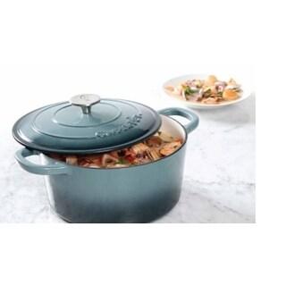 Crock Pot Artisan Cast Iron Dutch Oven Non Stick Surface 7 quart Slate Grey
