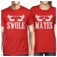 8c209ea4f0 Shop Swole Mates Funny Workout Graphic Couples Matching Shirts Cool ...