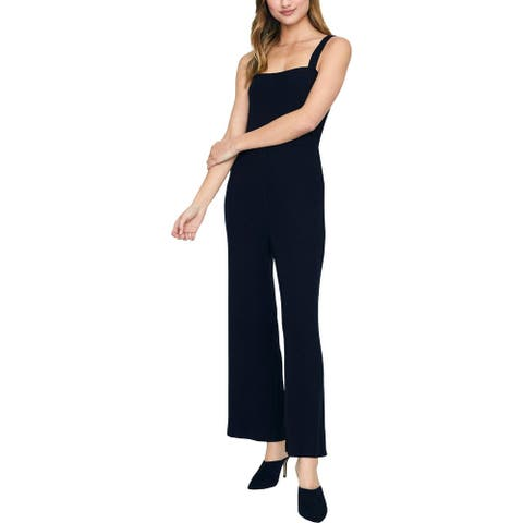 Sanctuary Womens Essential Jumpsuit Ribbed Sleeveless - Black