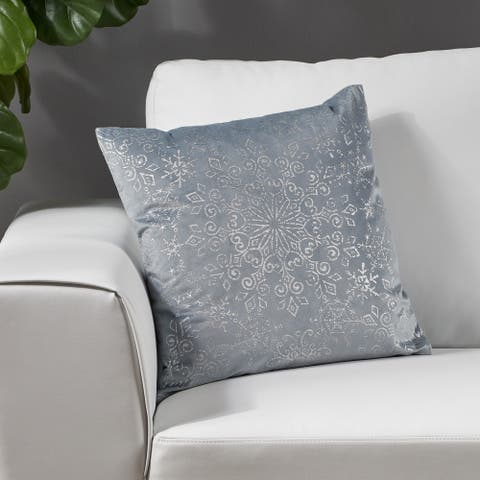 Anhalt Modern Fabric Square Pillow Cover by Christopher Knight Home