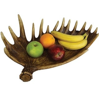 River's Edge New Moose Antler Fruit Bowl 897