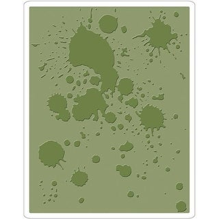 Sizzix 662366 Texture Fades Embossing Folder by Tim Holtz-Ink Splats