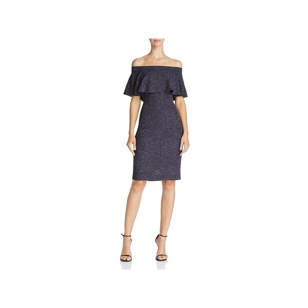 Eliza J Womens Special Occasion Dress Off-The-Shoulder Ruffle