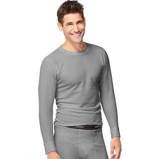 Hanes X-Temp Men's Organic Cotton Thermal Crew 3X-4X