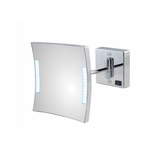 WS Bath Collections Quadrolo LED H60-1 3x Magnifying Rectangular Makeup Mirror with LED Lights from the Mirror Pure III