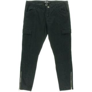 Rewash Womens Juniors Twill Flat Front Cargo Pants - 11
