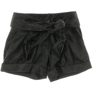 Kinder Aggugini Womens Pleated Belted Shorts - 2