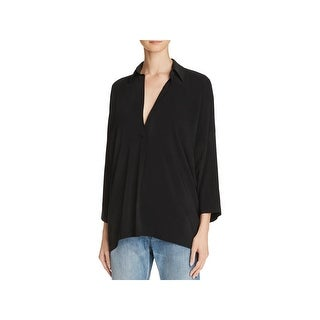 Vince Womens Casual Top Oversized Elbow Sleeves