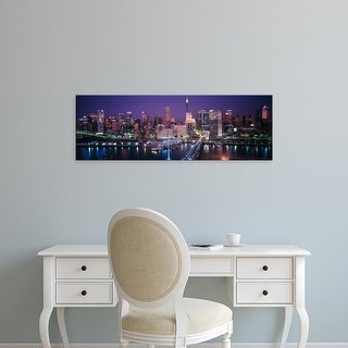 Easy Art Prints Panoramic Images's 'Buildings on the waterfront, Sydney, Australia' Premium Canvas Art
