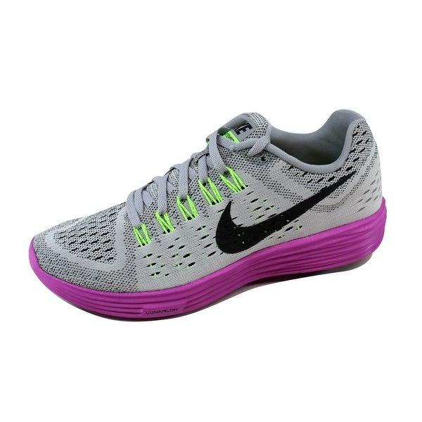 Nike Women's Lunartempo Wolf Grey/Black-Fuchsia Flash 705462-003