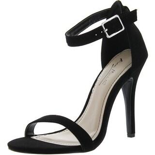 Bamboo Women's Enzo-01 Pumps Shoes Sandals - melon nubuck-01 - 9 b(m) us