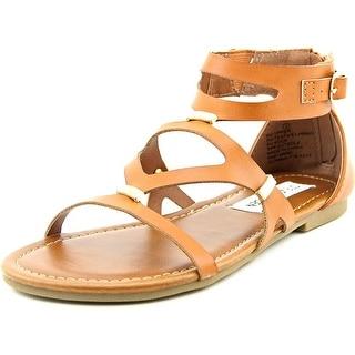Steve Madden Comma Youth Open Toe Synthetic Tan Gladiator Sandal