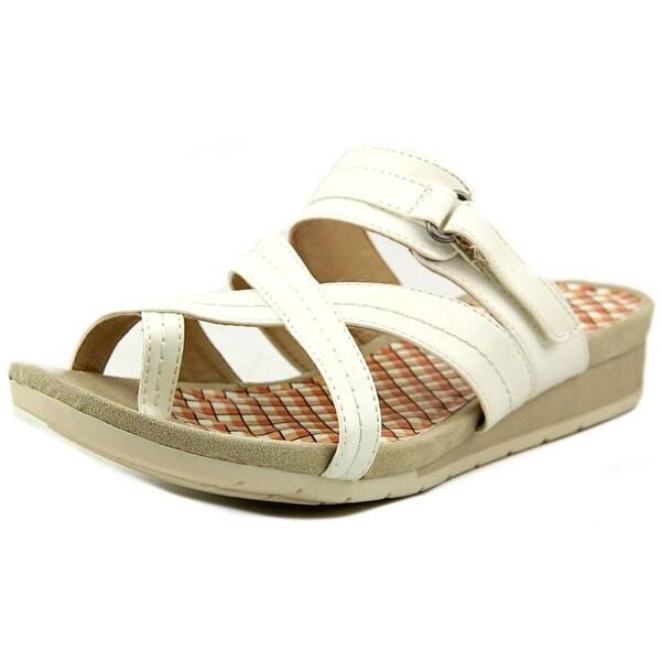 Kim Rogers Nadda Women Open Toe Synthetic White Sandals