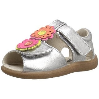 See Kai Run Girls Callie Anne Toddler Leather T-Strap Sandals - 5 medium (b,m)