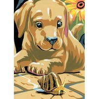 """Labrador Puppies - Junior - Mini Paint By Number Kit 5""""X7"""""""