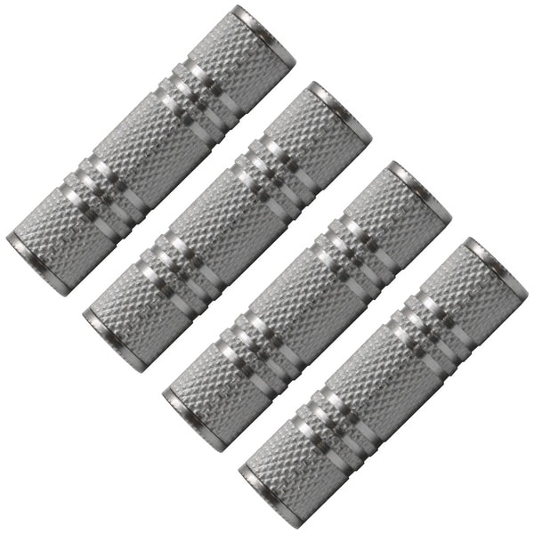 "Seismic Audio - 4 Pack of 1/8"" Female to 1/8"" Female Coupler (Silver)"